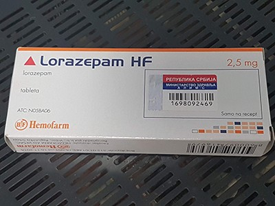 Lorazepam (Ativan) 2.5 mg Brand tavor
