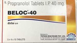 Propranolol Inderal 40 mg